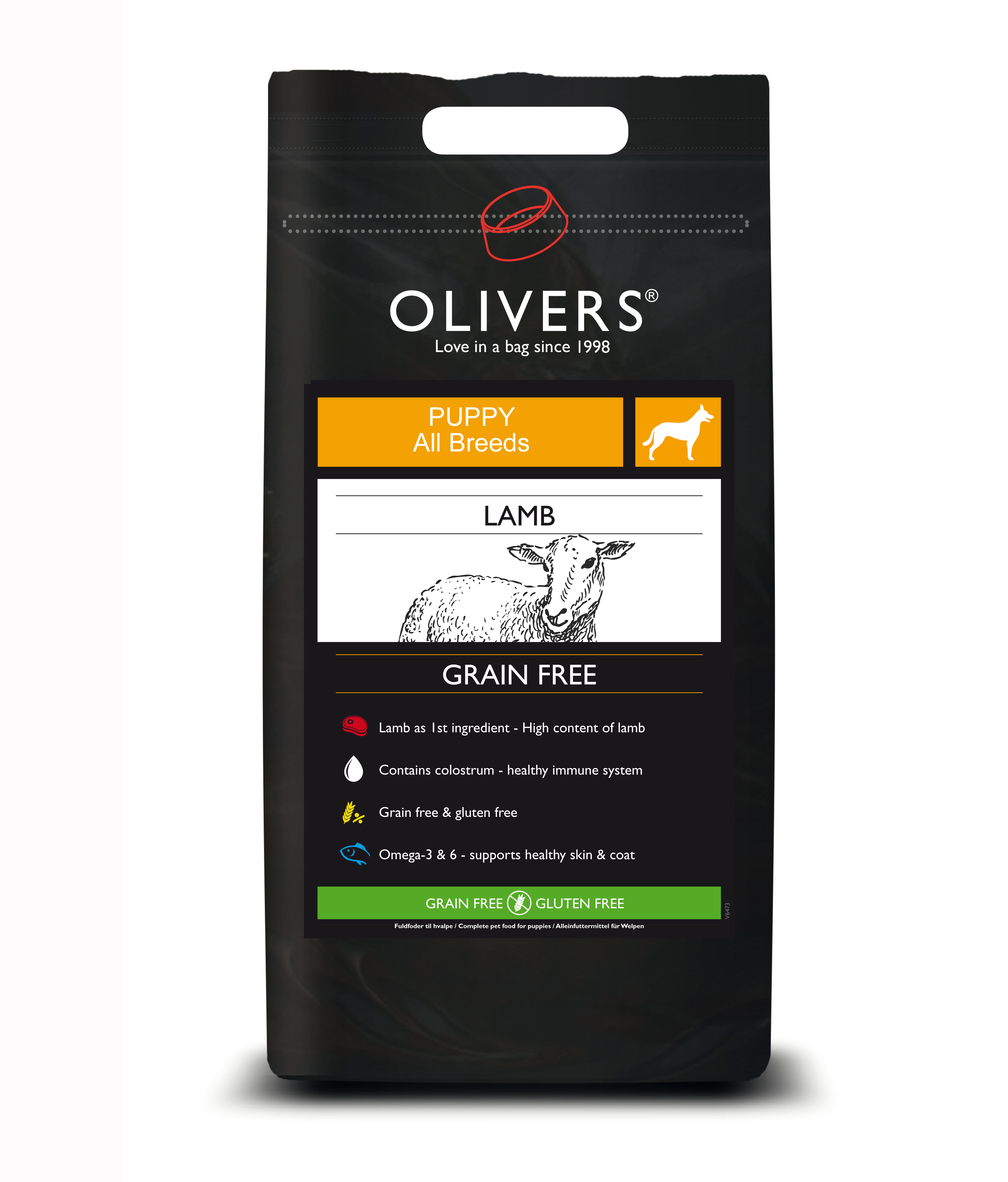 OLIVERS lamb grain free puppy 1144 1148