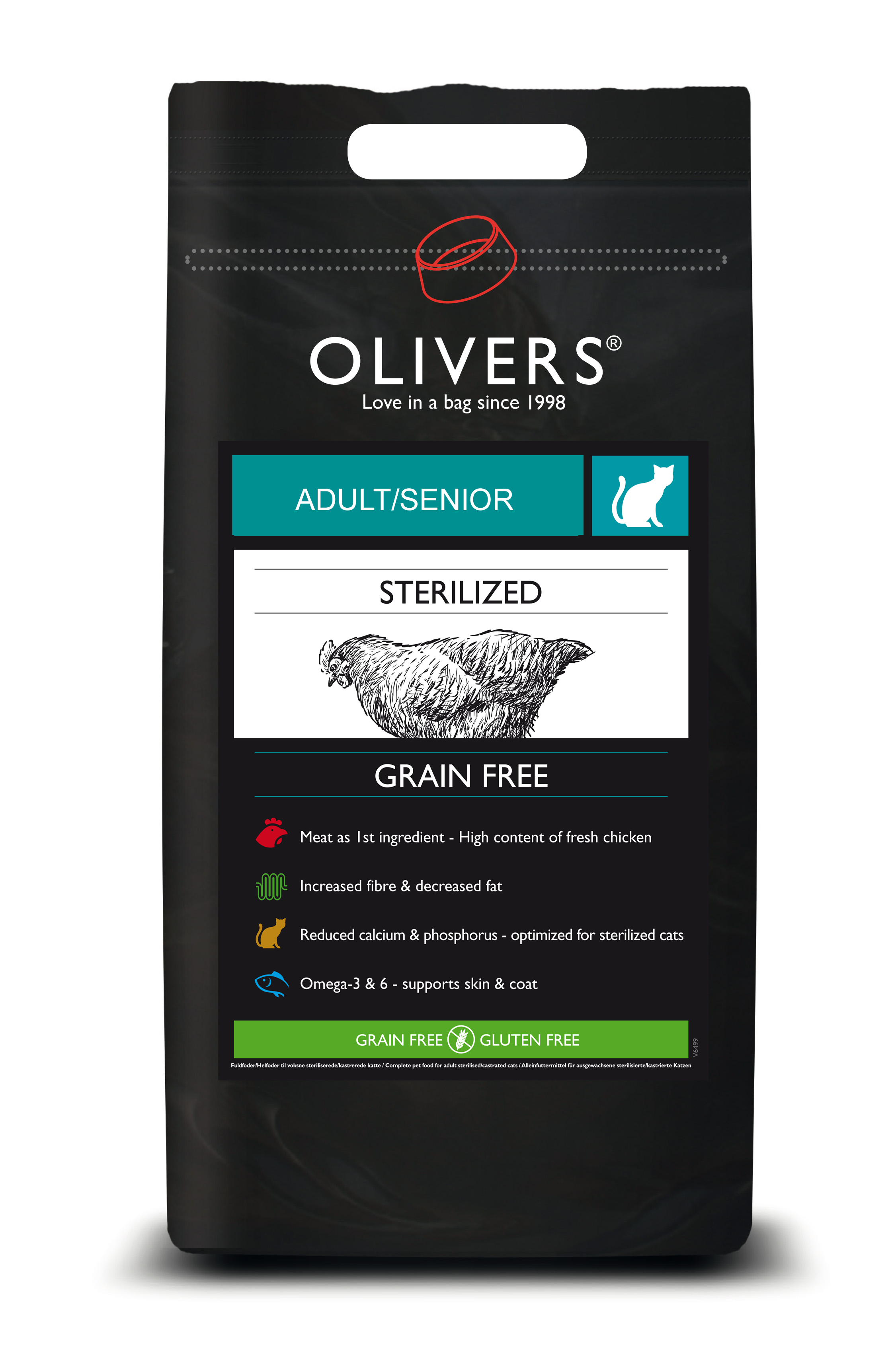 OLIVERS Chicken GrainFree Sterilized Adult Senior Cat