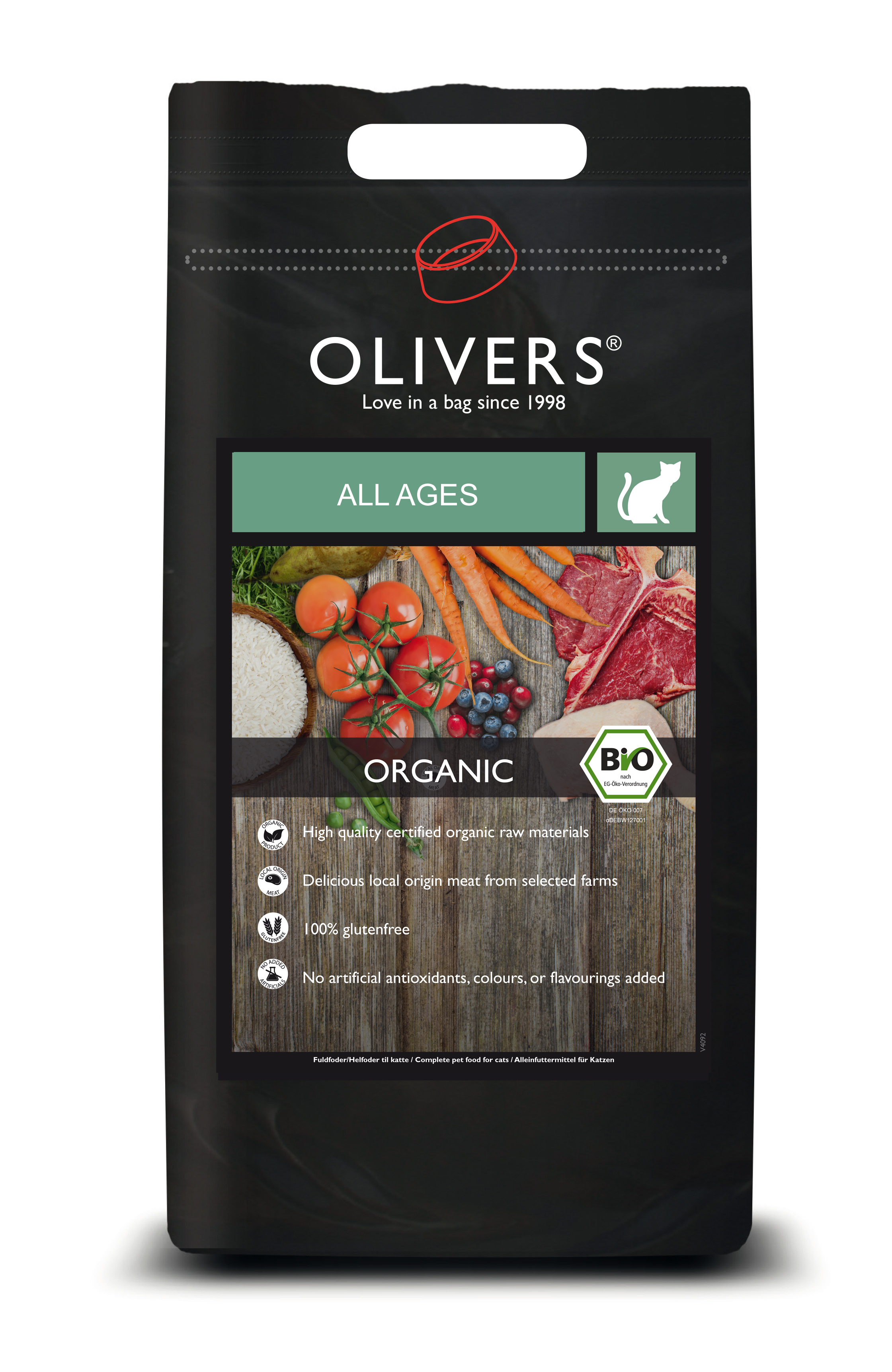 OLIVERS  CAT ALL LIFESTAGE GLUTENFREE  ORGANIC