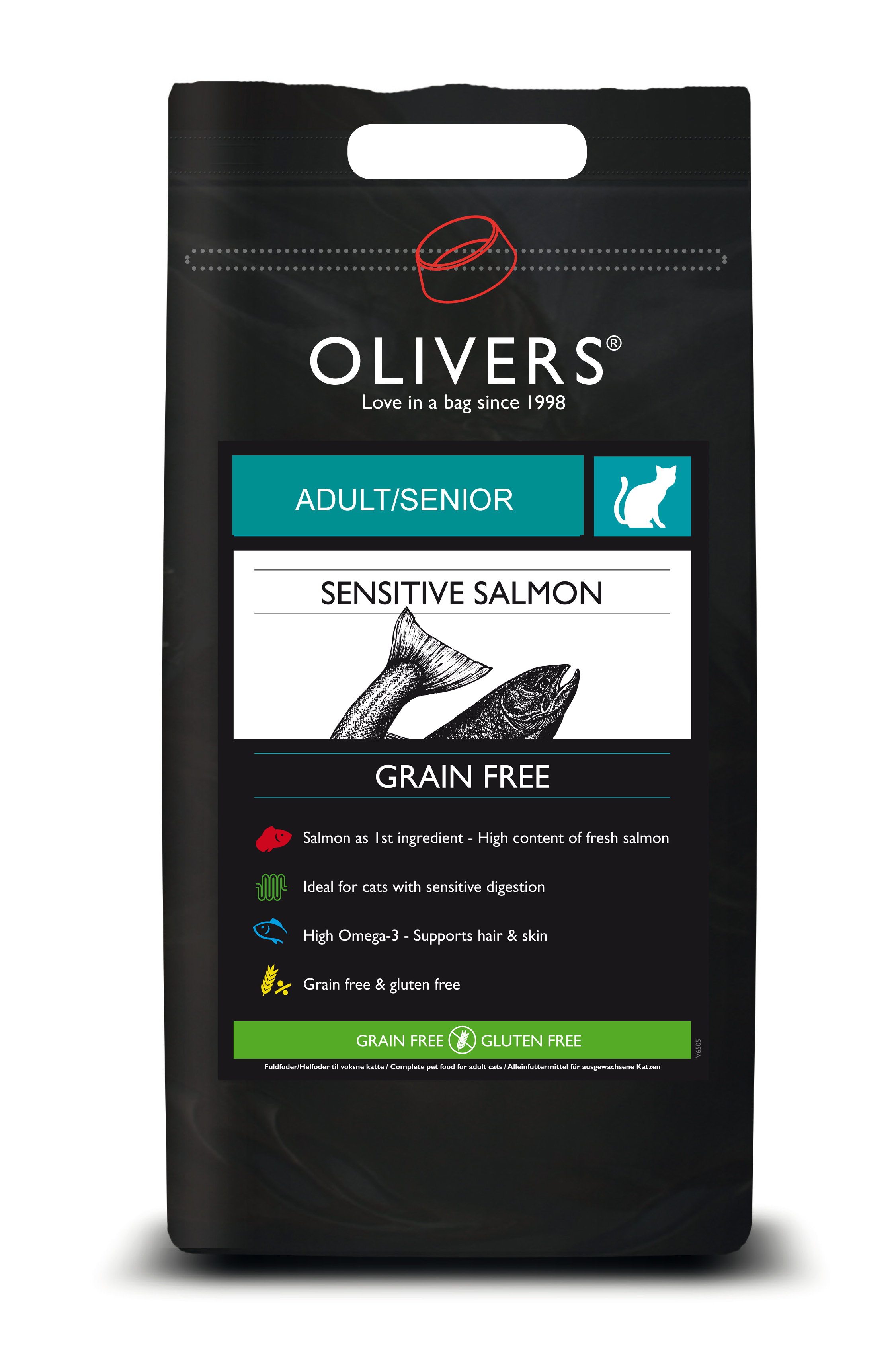 OLIVERS CAT ADULT SENSITIVE SALMON GRAIN FREE