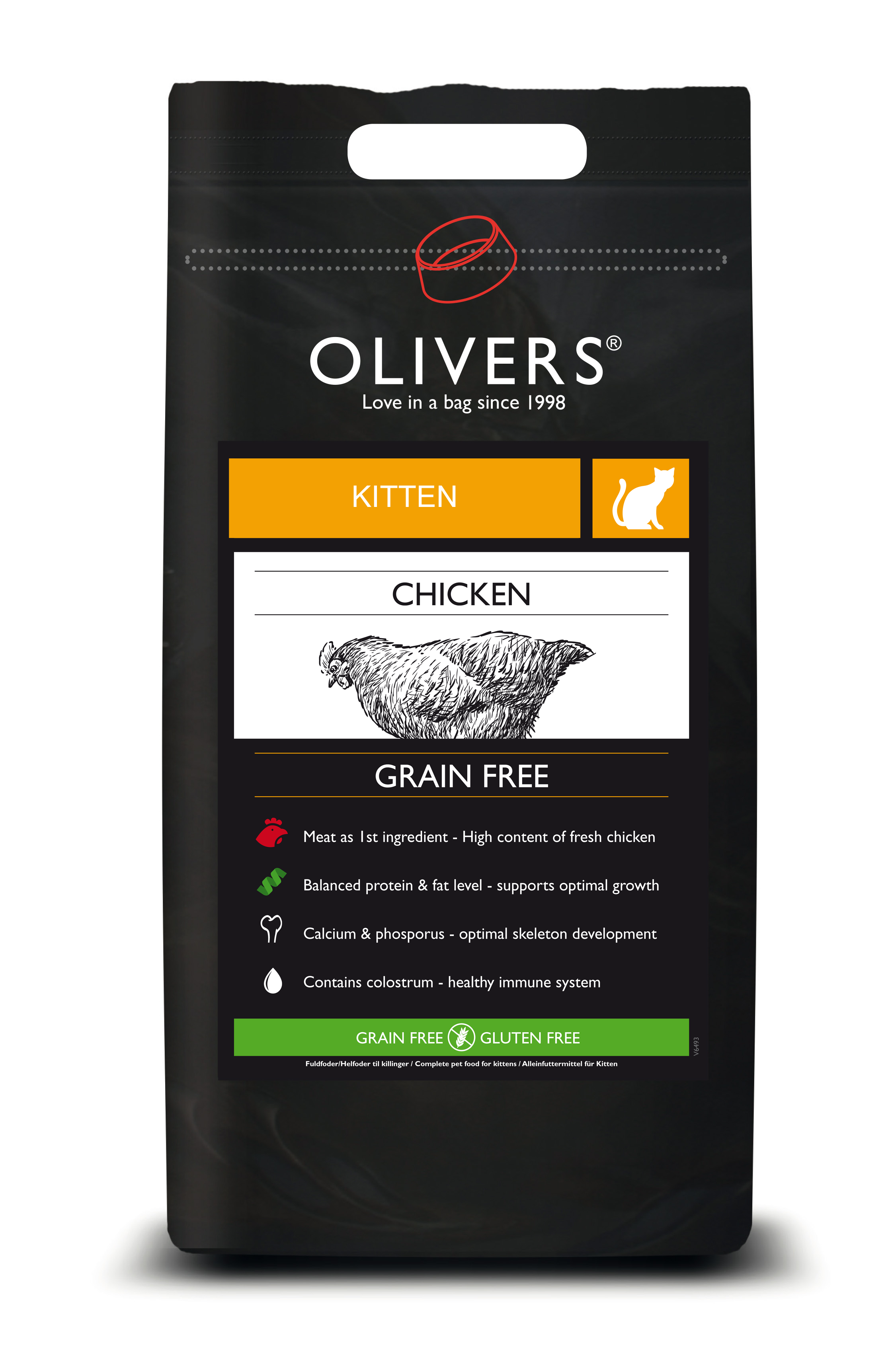 OLIVERS KITTEN CARE GRAIN FREE